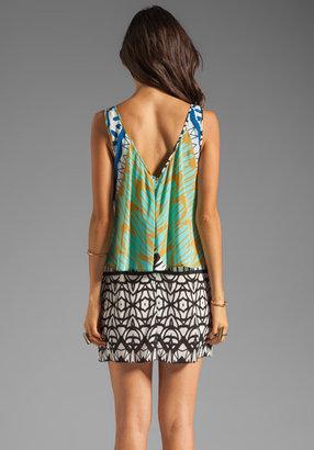 Plenty by Tracy Reese Tribal Trellis Fly Away Shift Dress