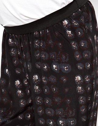Asos Pant in Blurred Spot Print