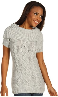 Columbia Cabled Cutie Tunic Sweater (Flint Grey) - Apparel