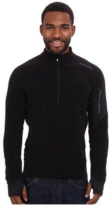 Hot Chillys La Montana Zip-T (Black/Black) Men's Long Sleeve Pullover