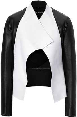 David Koma Two-Tone Leather Jacket