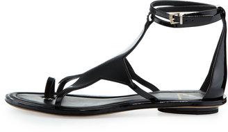 Brian Atwood Caterina Patent Star Sandal, Black