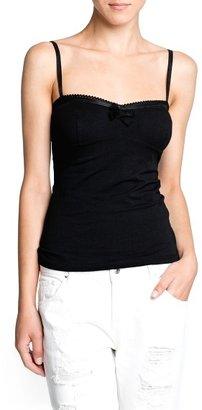 MANGO Lace details strap top