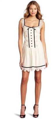 Betsey Johnson Women's Elegant Drop Waist Dress
