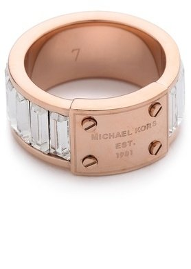 Michael Kors Baguette Plaque Ring