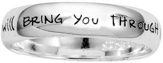 JCPenney Bridge Jewelry Footnotes Sterling Silver Inscription Ring
