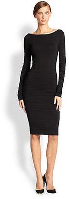 Donna Karan Wide-Neck Ottoman Dress