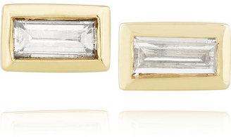 Jennifer Meyer 18-karat gold diamond rectangle earrings