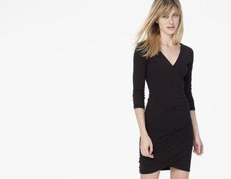 James Perse Skinny Wrap Tuck Dress