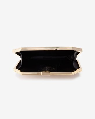 Stark Gold Crystal Put A Ring On It Clutch