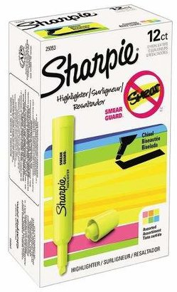 Sharpie® Accent Tank Style Chisel Tip Highlighter - Assorted (Set of 12) $8.99 thestylecure.com