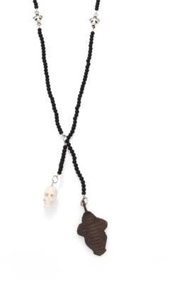 King Baby Studio Onyx Bead Necklace