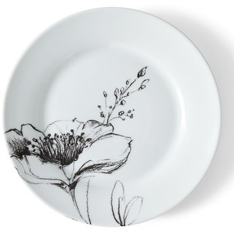 PPD Black & White Salad Plate
