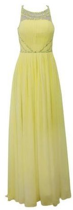 ELLIOT CLAIRE Yellow Pleated Gown