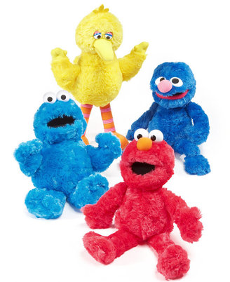 Gund Seasame Street Big Bird, Elmo, Cookie Monster or Grover Doll