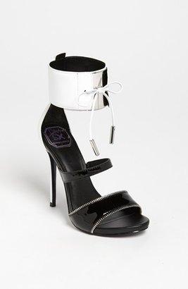 Donald J Pliner DMSX 'Sese' Sandal Black/ White 9 M