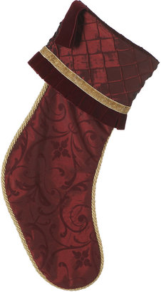Horchow Wine-Colored Christmas Stockings