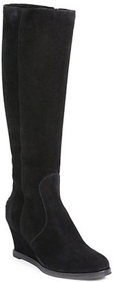 Fendi Cathy Suede Knee-High Boots