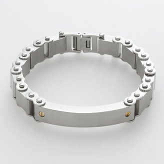 Triton Axl by stainless steel & 14k gold-over-stainless steel id bracelet - men
