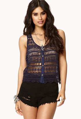 Forever 21 Crocheted Boho Top