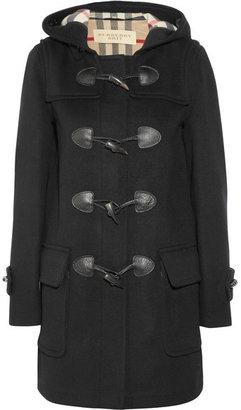 Burberry Wool-felt Duffle Coat - Black