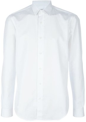 Mr Start White Cotton Shirt with Fashion Collar