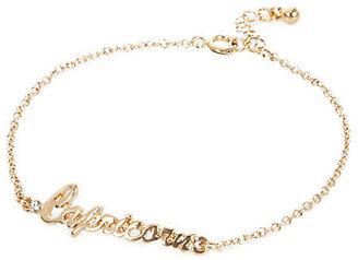 River Island Womens Gold tone Capricorn bracelet
