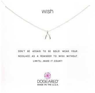 Dogeared Wish Reminder 16 inch (Silver) Necklace