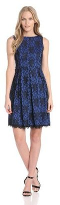 Isaac Mizrahi Women's Fit-and-Flare Lace Dress