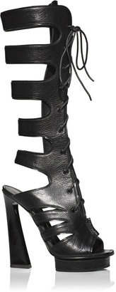 Proenza Schouler Accessories Black Shiny Leather Cut High Boots