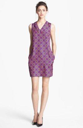 Nordstrom Miss Wu Geo Tile Print Silk Dress Exclusive)