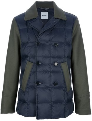 Moschino contrasting sleeve padded jacket