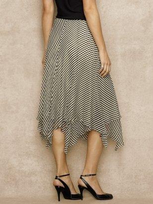 Ralph Lauren Blue Label Striped Silk Chiffon Skirt