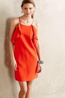 Cameo Fluttered Scarlet Dress