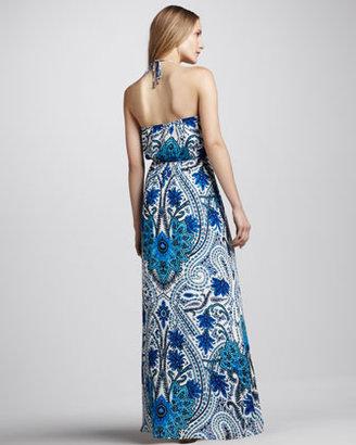 Madison Marcus Paisley-Print Halter Maxi Dress
