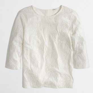 J.Crew Factory Factory embroidered paisley tee
