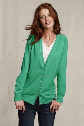 Women's Cotton Cashmere V-neck Cardigan