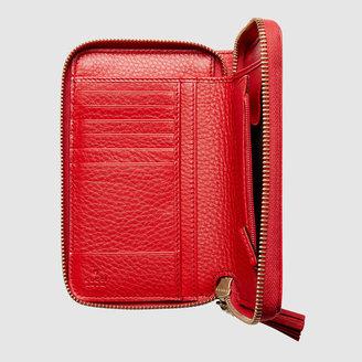 Gucci Soho leather zip around wallet