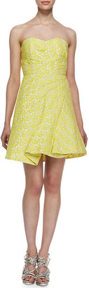 Alice + Olivia Grove Strapless Sculpted Dress