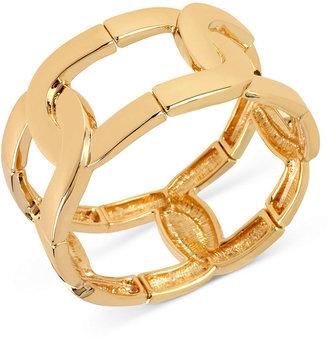 Kenneth Cole New York Bracelet, Gold-Tone Oval Link Stretch Bracelet