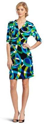 Chaus Women's Banded Waist Geo Dress