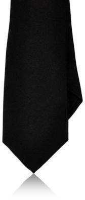 Barneys New York Men's Solid Silk Satin Necktie-BLACK