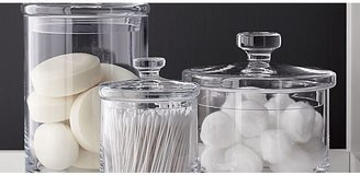 Crate & Barrel Set of 3 Glass Canisters