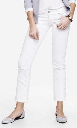 Express White Stella Cropped Skinny Jean