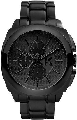Karl Lagerfeld Unisex Chronograph Black Ion-Plated Stainless Steel Bracelet Watch 46mm KL1601
