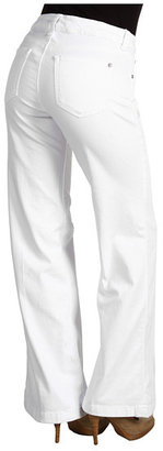 Miraclebody Jeans Carly Wide Leg Trouser in White