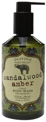 Olivina Body Wash Sandalwood Amber 10.0oz.
