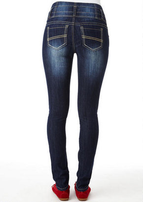 Delia's Triple Button High Waist Jean
