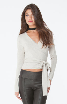 Hale Bob - Gabey Wrap Sweater In Beige $146 thestylecure.com