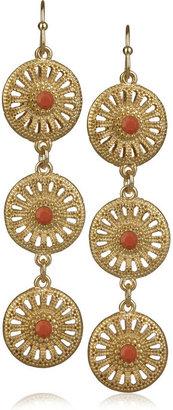 Kenneth Jay Lane Gold-filigree drop earrings